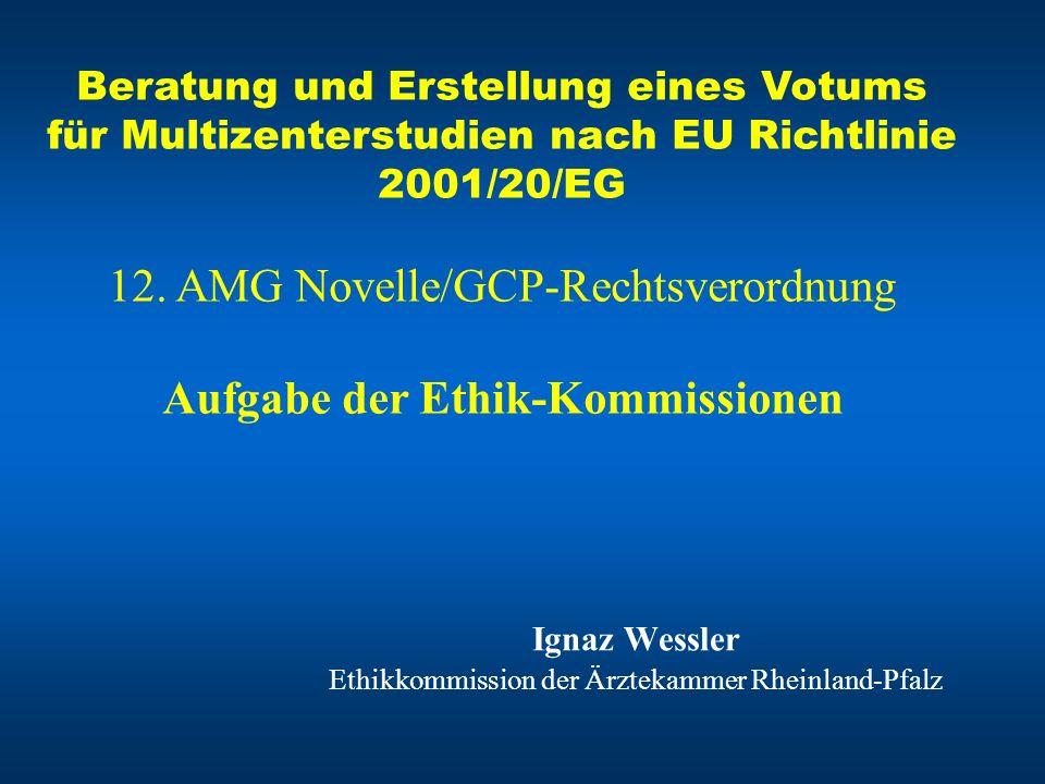 Ignaz Wessler Ethikkommission der Ärztekammer Rheinland-Pfalz