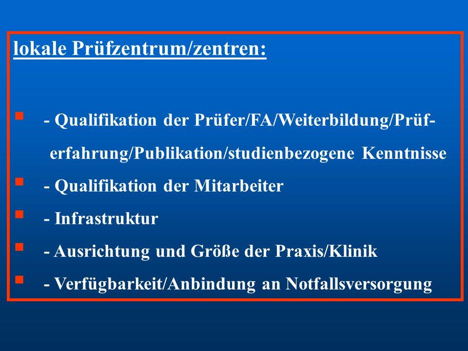 lokale Prüfzentrum/zentren: