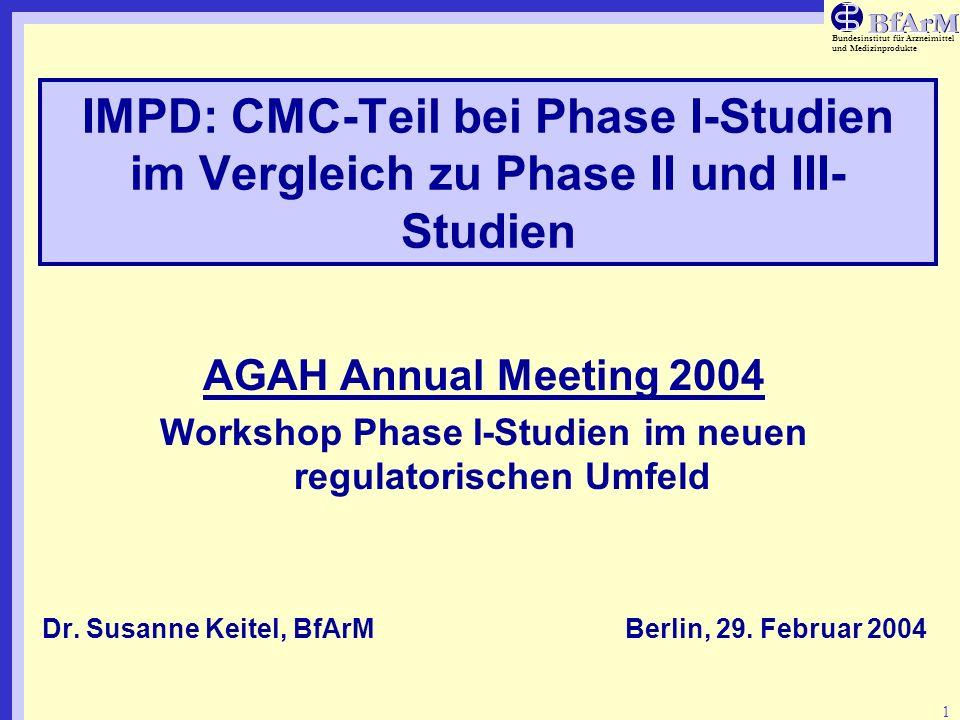 Workshop Phase I-Studien im neuen regulatorischen Umfeld