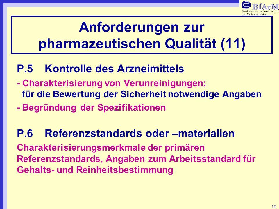 Anforderungen zur pharmazeutischen Qualität (11)