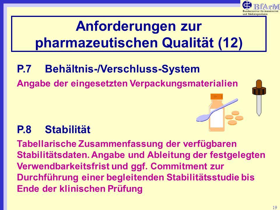 Anforderungen zur pharmazeutischen Qualität (12)