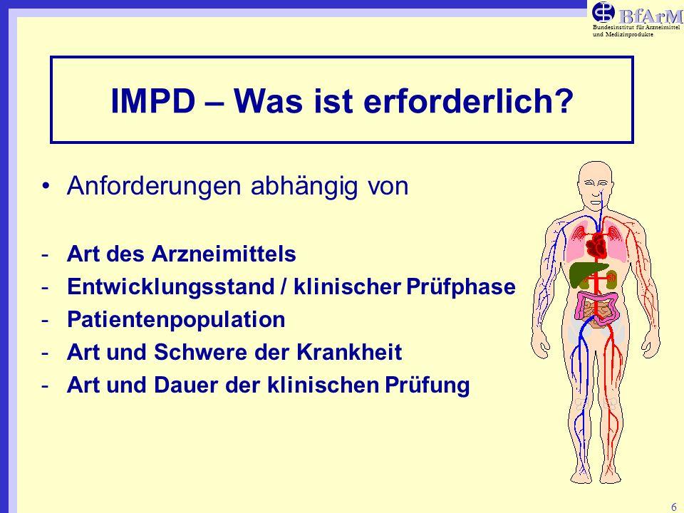 IMPD – Was ist erforderlich