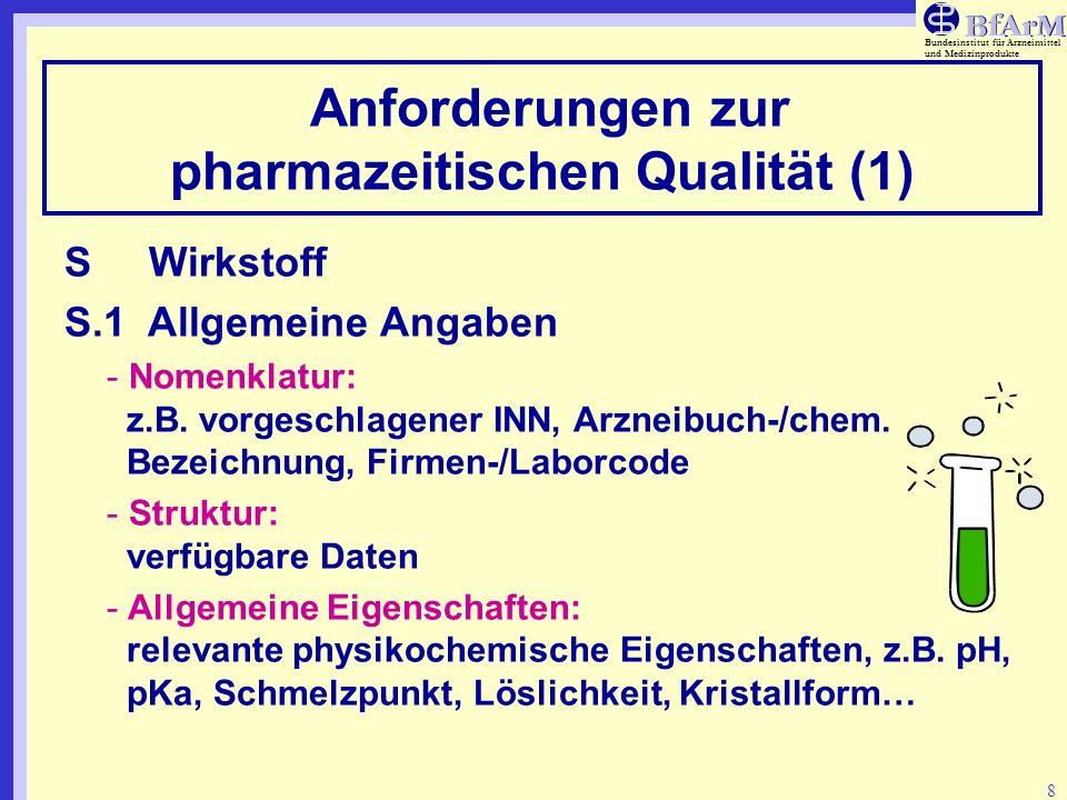 Anforderungen zur pharmazeitischen Qualität (1)