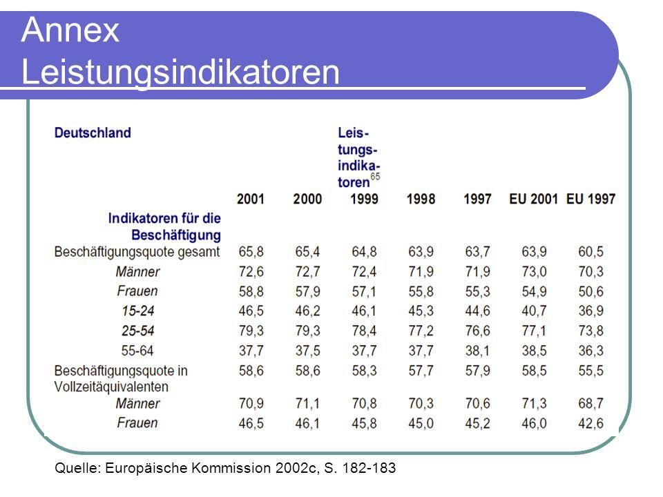 Annex Leistungsindikatoren
