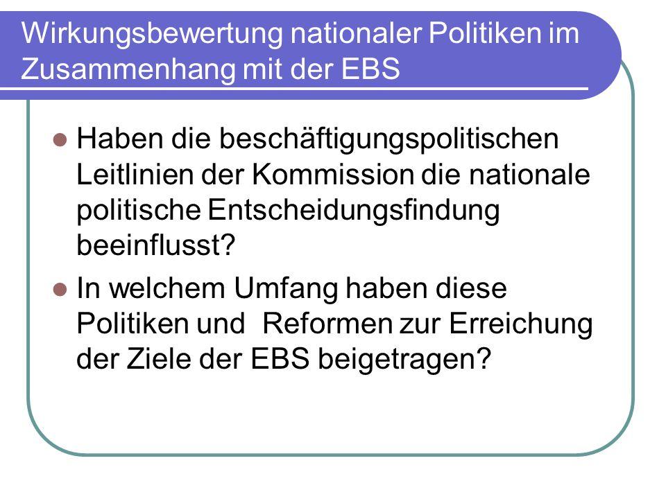 Wirkungsbewertung nationaler Politiken im Zusammenhang mit der EBS