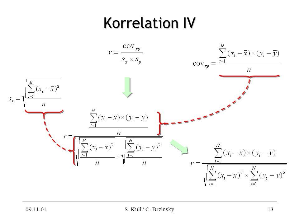 Korrelation IV 09.11.01 S. Kull / C. Brzinsky