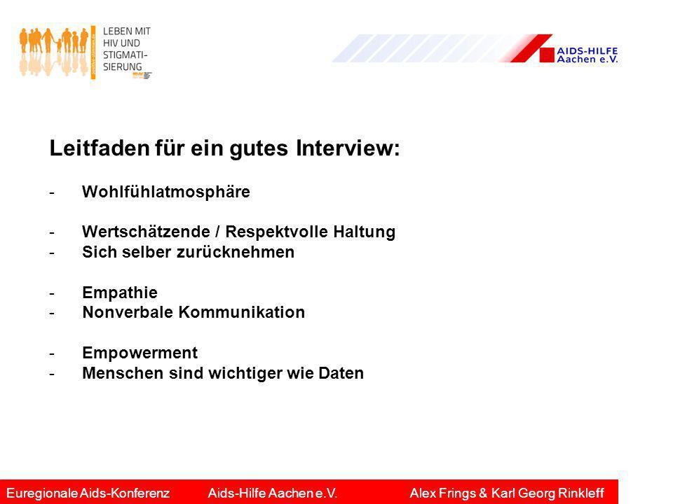 Leitfaden für ein gutes Interview: