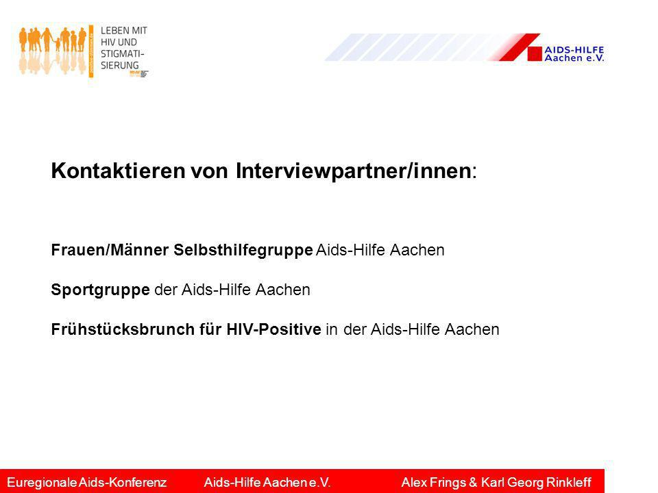 Kontaktieren von Interviewpartner/innen: