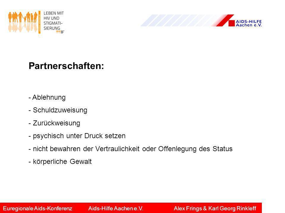 Partnerschaften: - Ablehnung - Schuldzuweisung - Zurückweisung