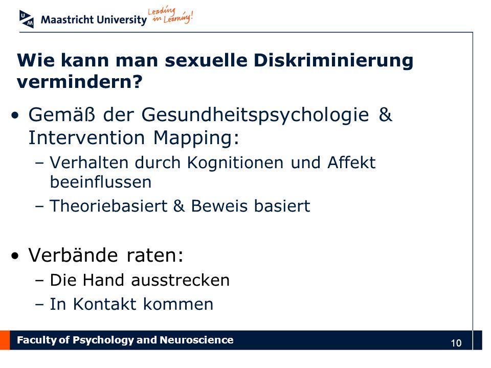Wie kann man sexuelle Diskriminierung vermindern