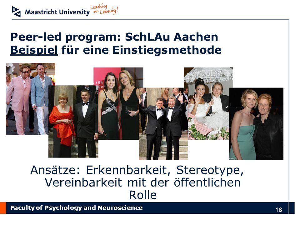 Peer-led program: SchLAu Aachen Beispiel für eine Einstiegsmethode