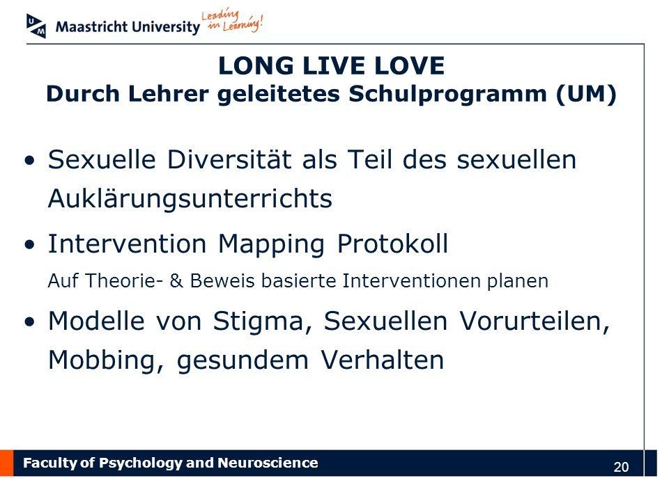 LONG LIVE LOVE Durch Lehrer geleitetes Schulprogramm (UM)