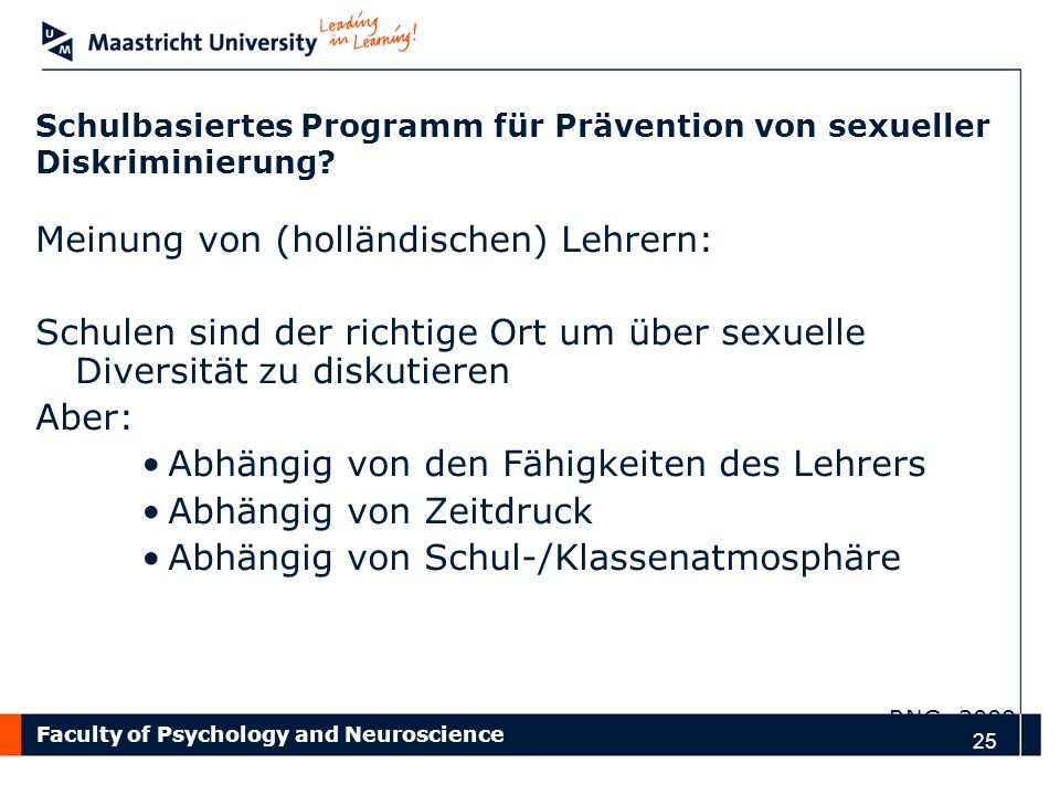 Schulbasiertes Programm für Prävention von sexueller Diskriminierung