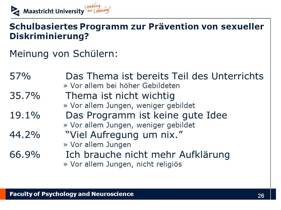Schulbasiertes Programm zur Prävention von sexueller Diskriminierung