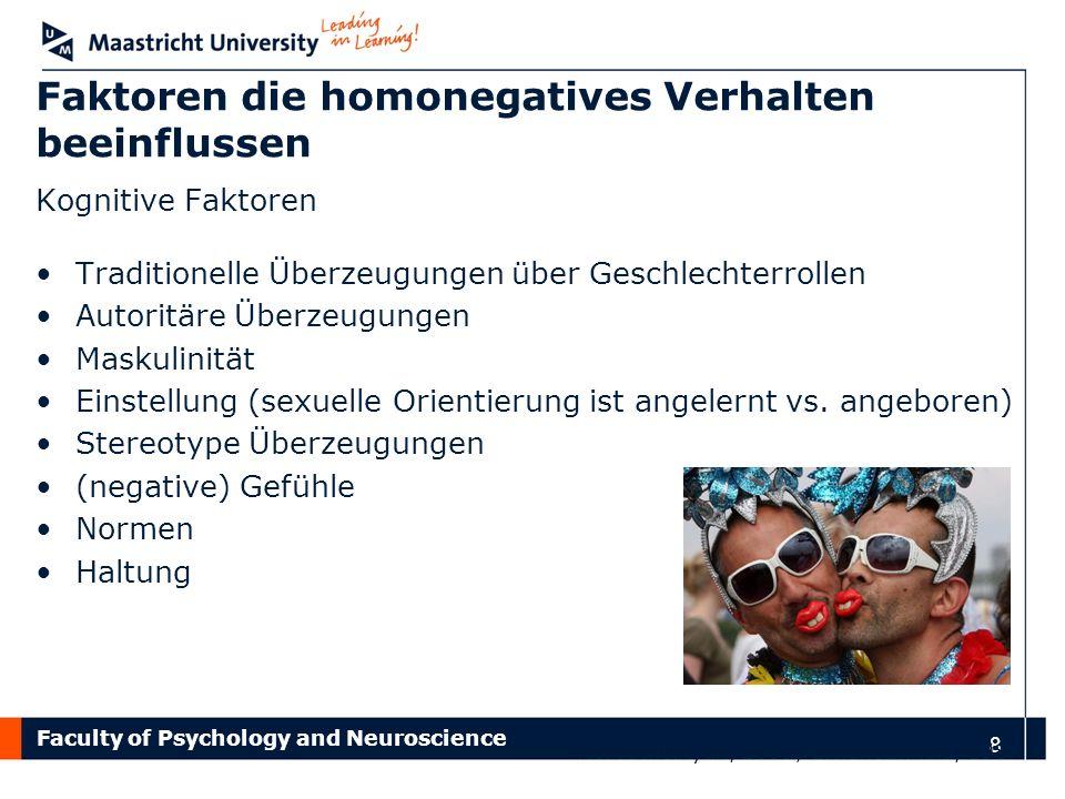Faktoren die homonegatives Verhalten beeinflussen