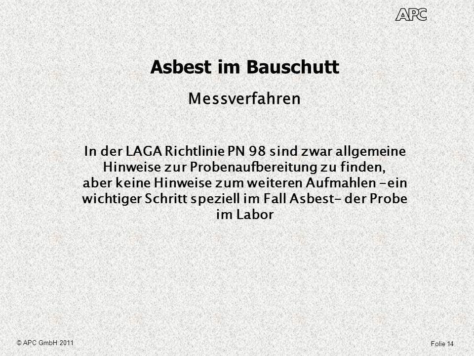 Asbest im Bauschutt Messverfahren