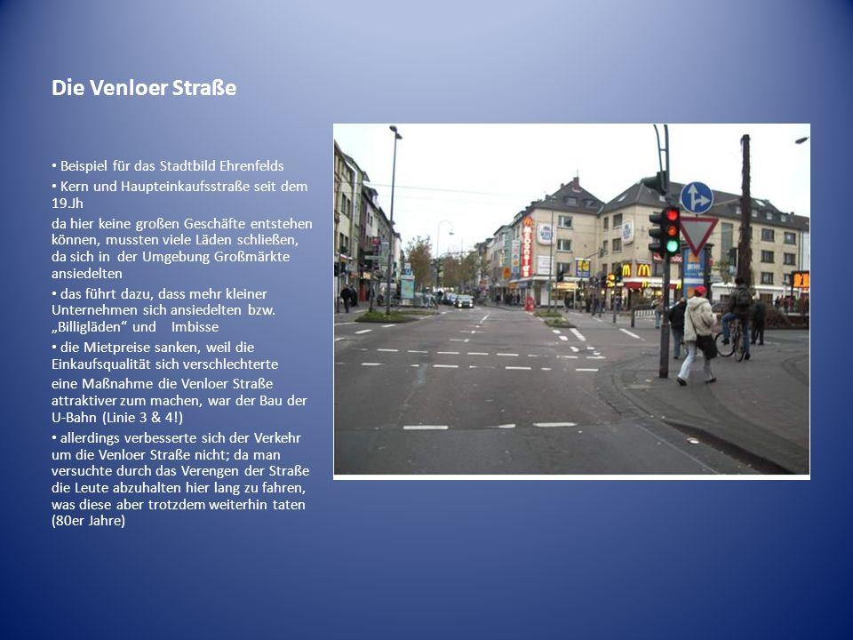 Die Venloer Straße Beispiel für das Stadtbild Ehrenfelds
