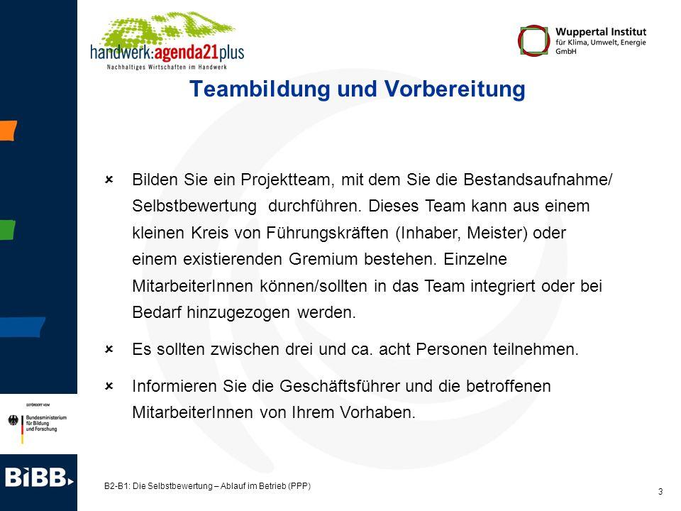 Teambildung und Vorbereitung