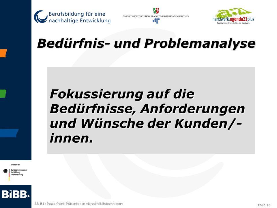Bedürfnis- und Problemanalyse
