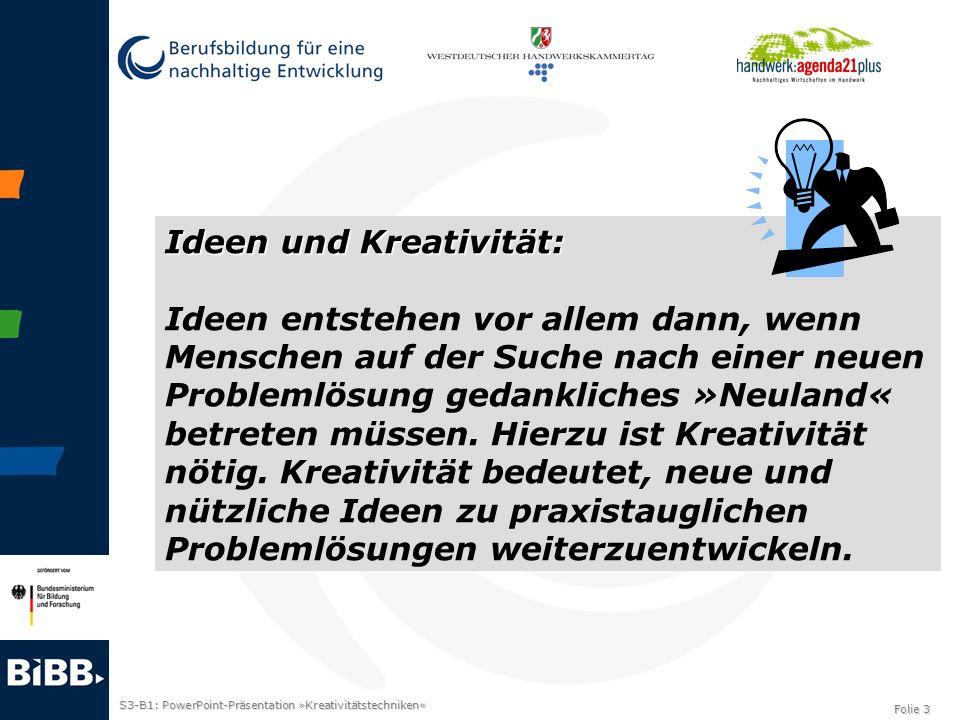 Ideen und Kreativität: