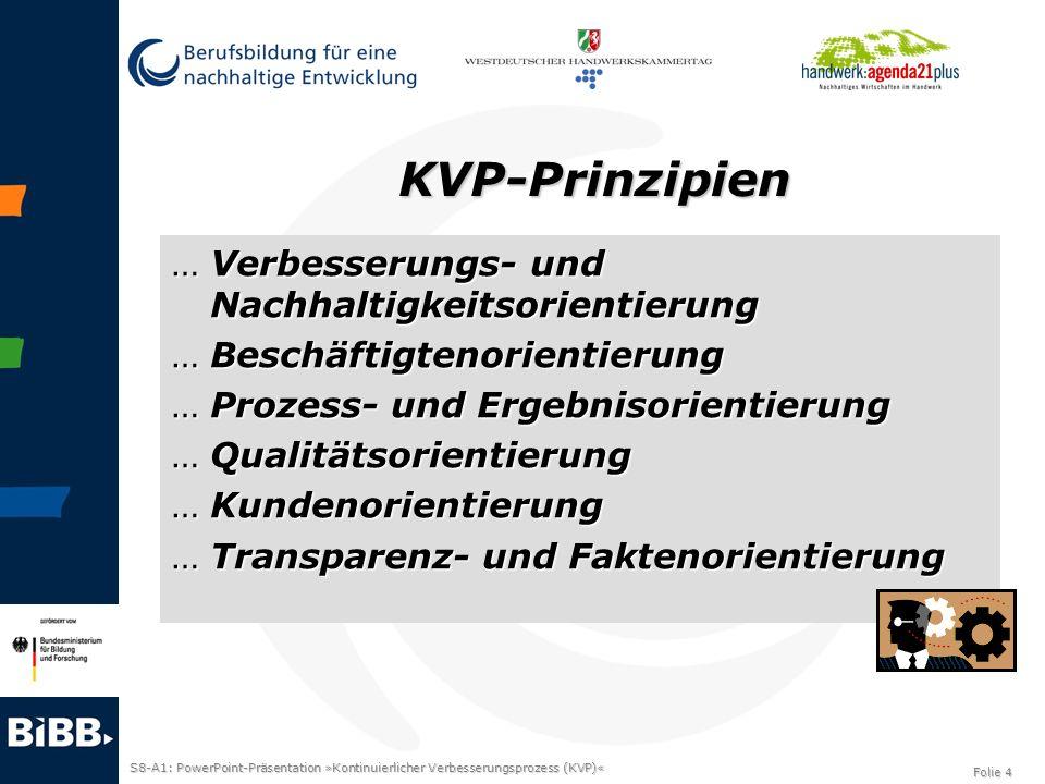 KVP-Prinzipien Verbesserungs- und Nachhaltigkeitsorientierung