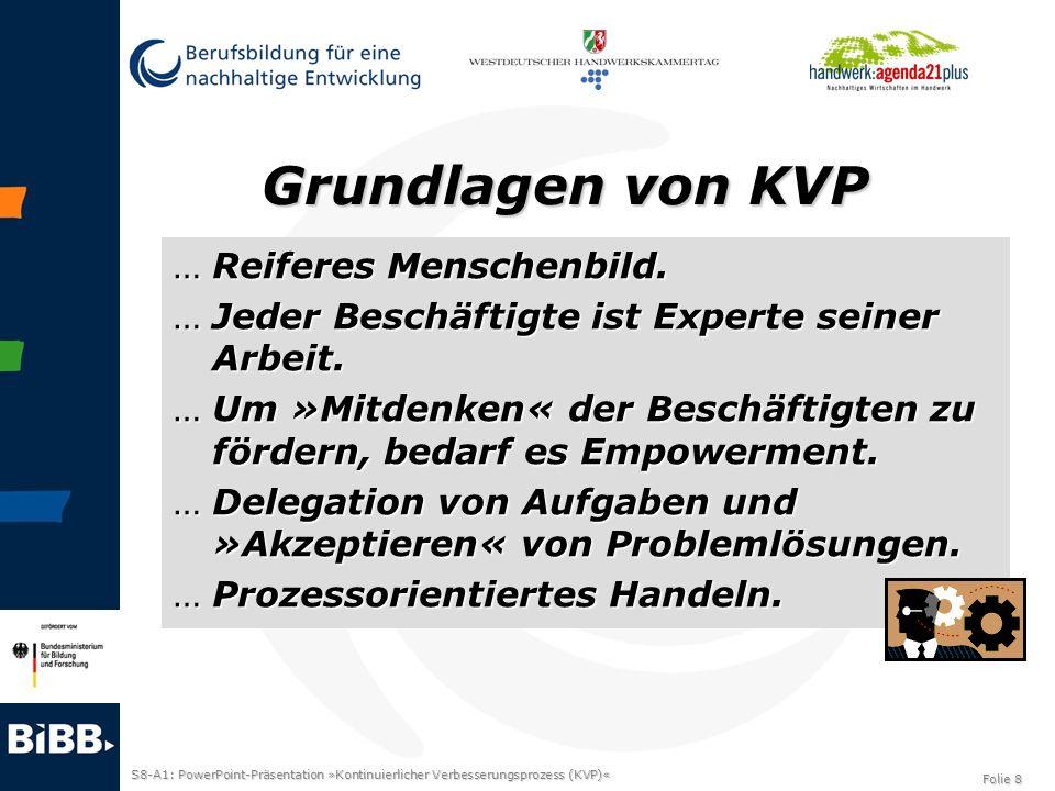 Grundlagen von KVP Reiferes Menschenbild.