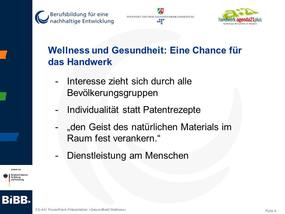 Wellness und Gesundheit: Eine Chance für das Handwerk