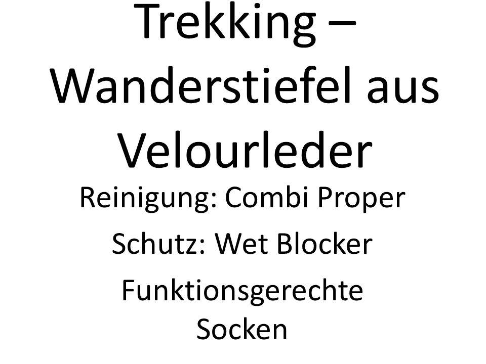 Trekking – Wanderstiefel aus Velourleder