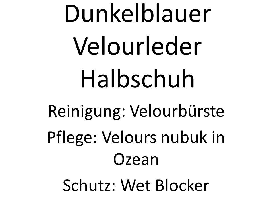 Dunkelblauer Velourleder Halbschuh