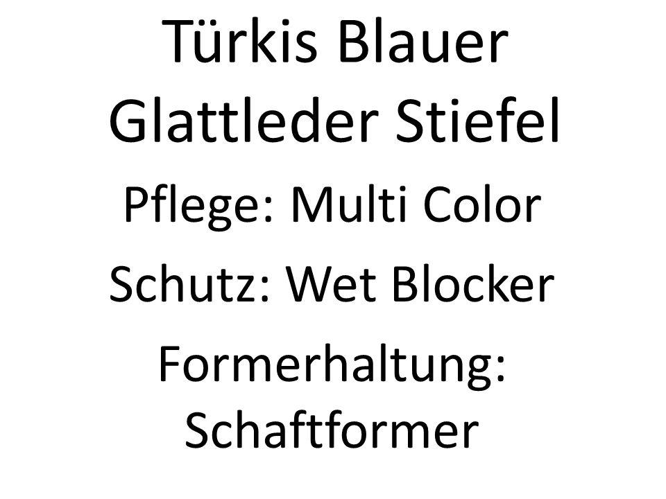 Türkis Blauer Glattleder Stiefel