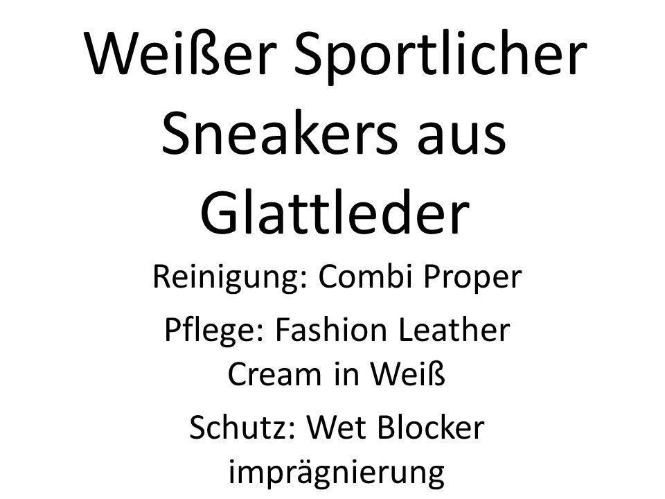 Weißer Sportlicher Sneakers aus Glattleder
