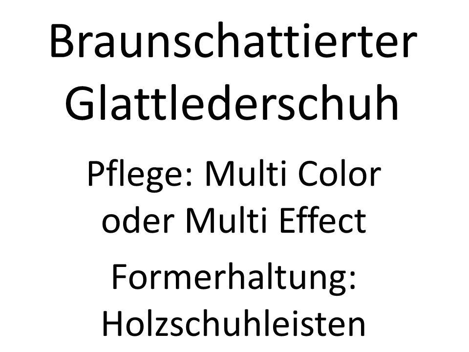 Braunschattierter Glattlederschuh