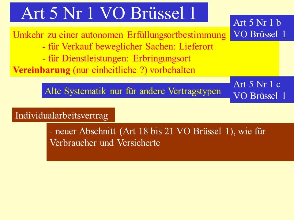 Art 5 Nr 1 VO Brüssel 1 Art 5 Nr 1 b VO Brüssel 1