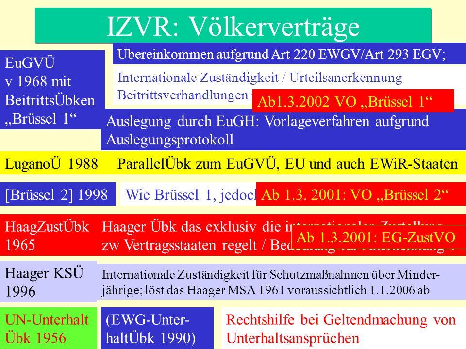 "IZVR: Völkerverträge EuGVÜ v 1968 mit BeitrittsÜbken""Brüssel 1"