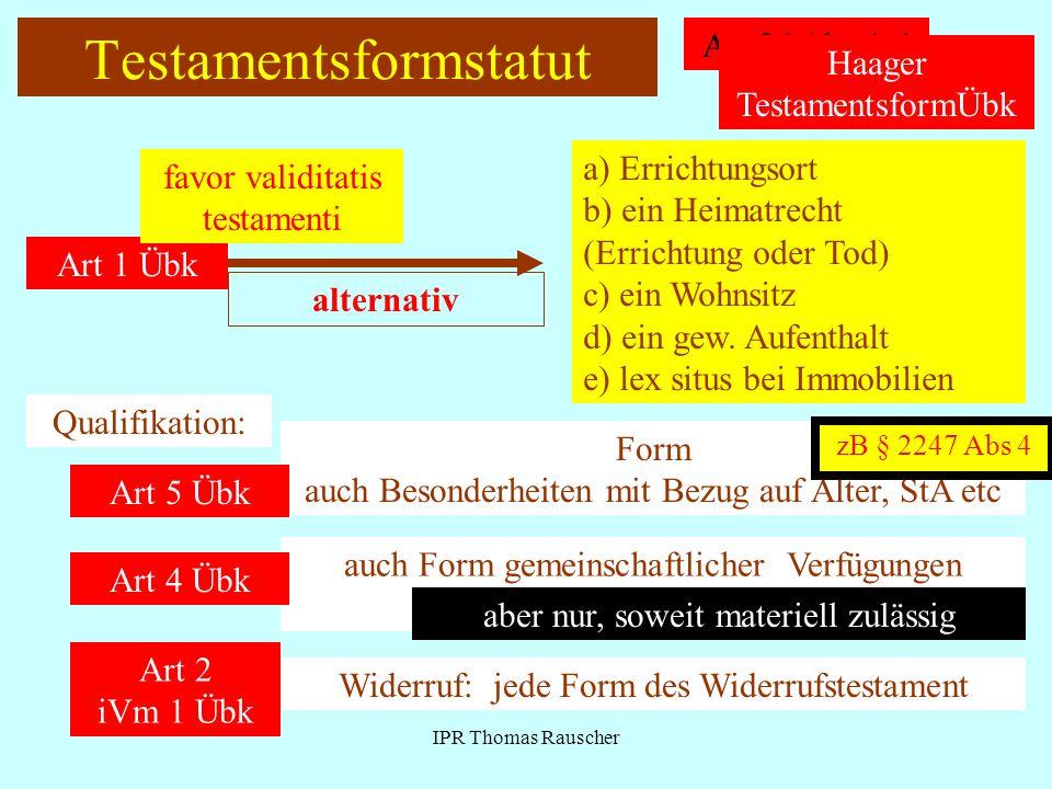 Testamentsformstatut