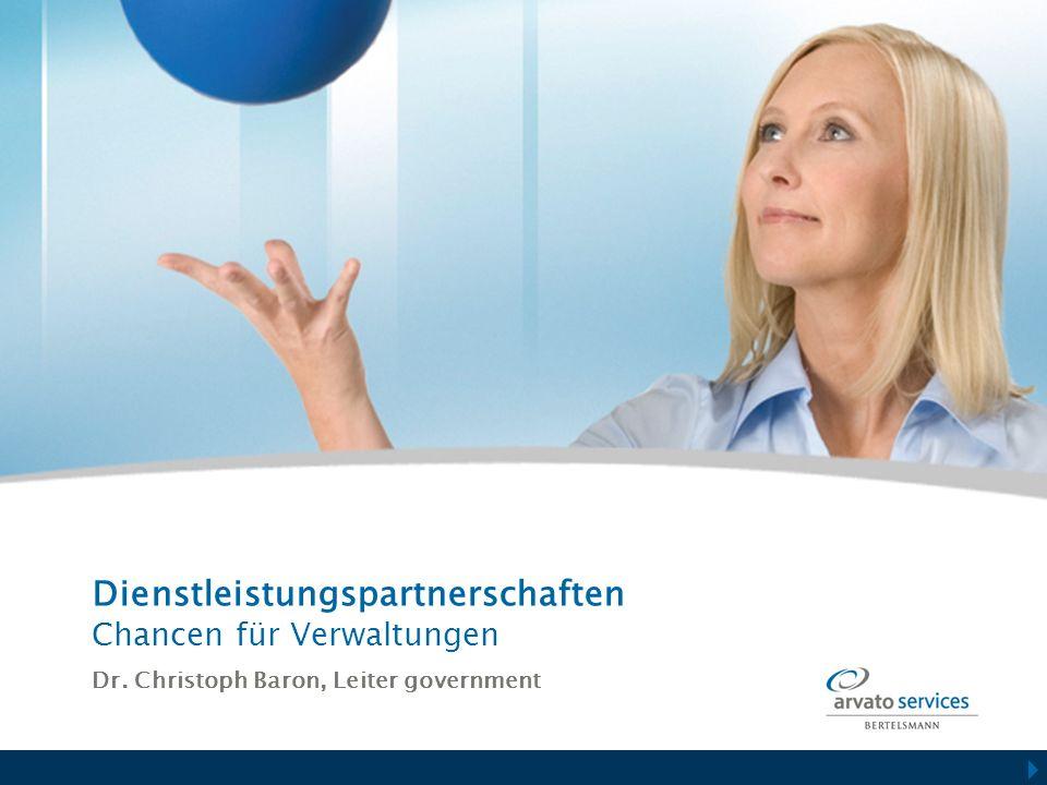 Dienstleistungspartnerschaften Chancen für Verwaltungen