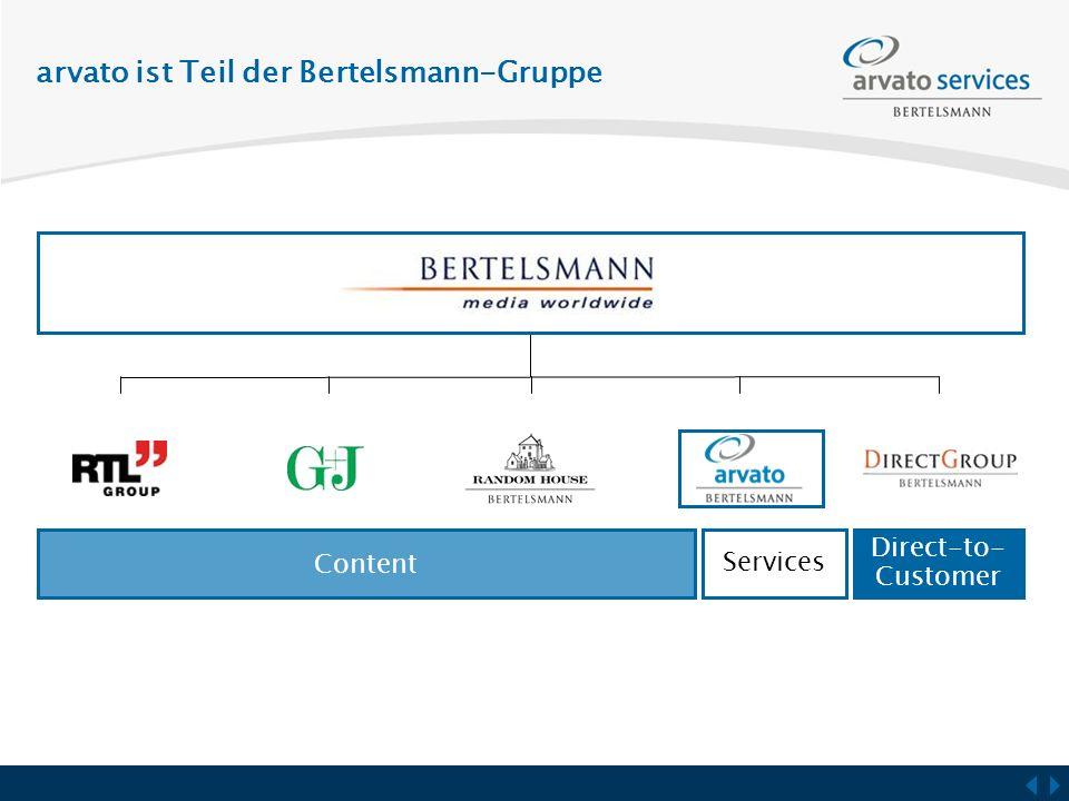 arvato ist Teil der Bertelsmann-Gruppe