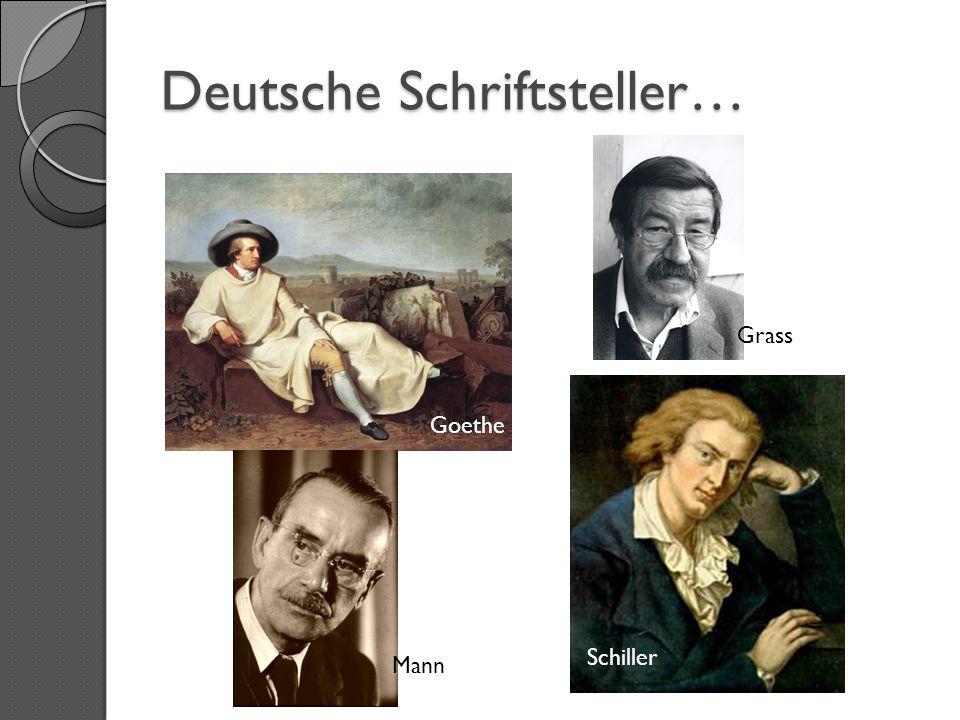 Deutsche Schriftsteller…