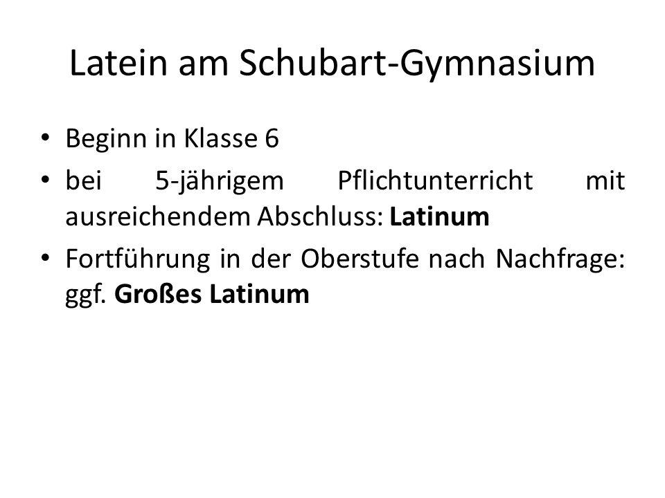 Latein am Schubart-Gymnasium