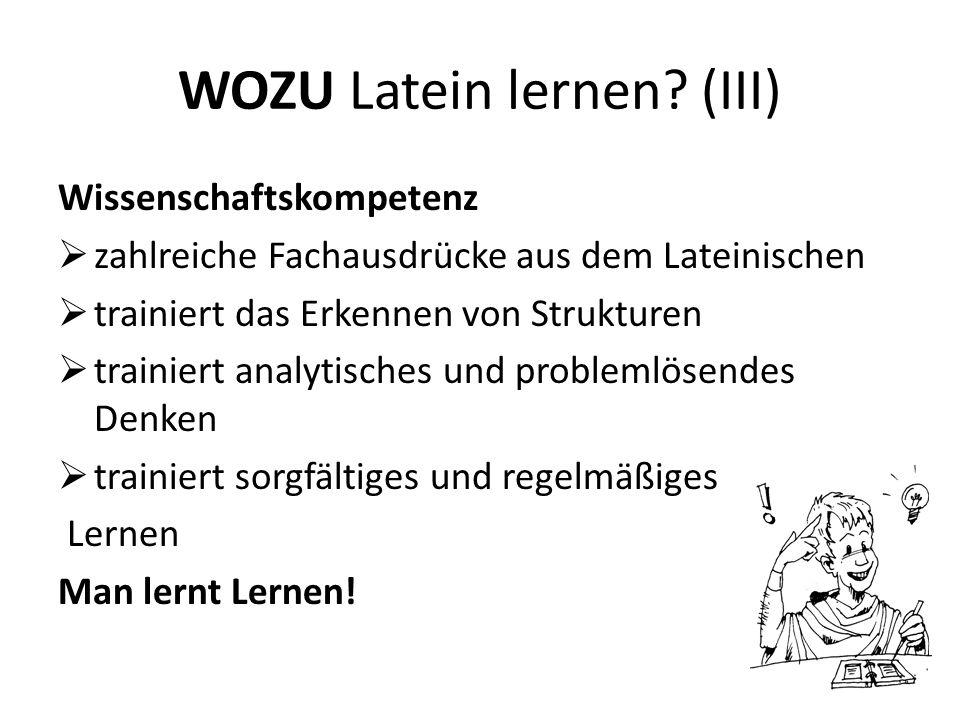 WOZU Latein lernen (III)