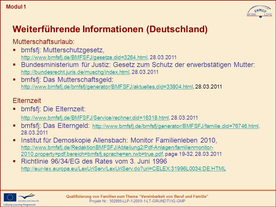 Weiterführende Informationen (Deutschland)