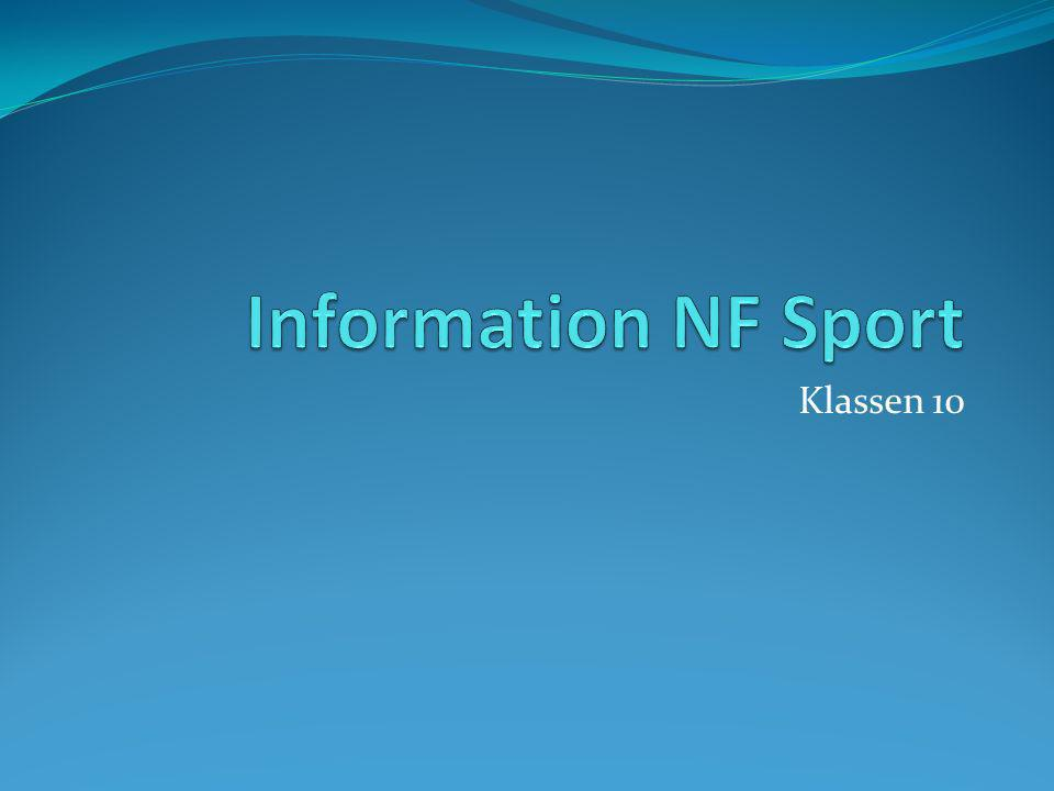 Information NF Sport Klassen 10