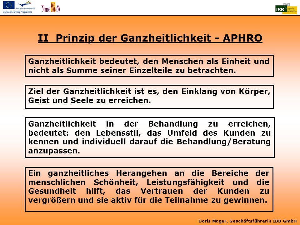 II Prinzip der Ganzheitlichkeit - APHRO