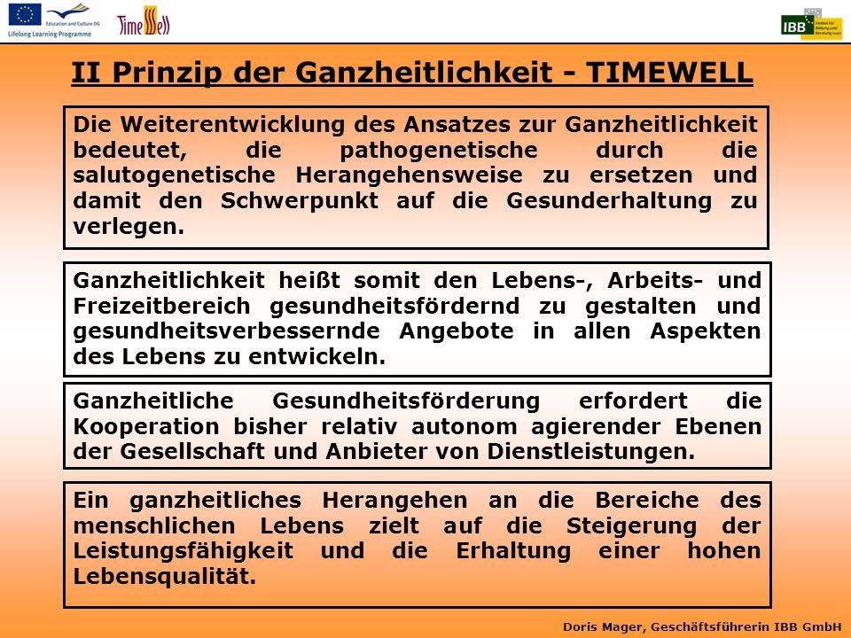 II Prinzip der Ganzheitlichkeit - TIMEWELL