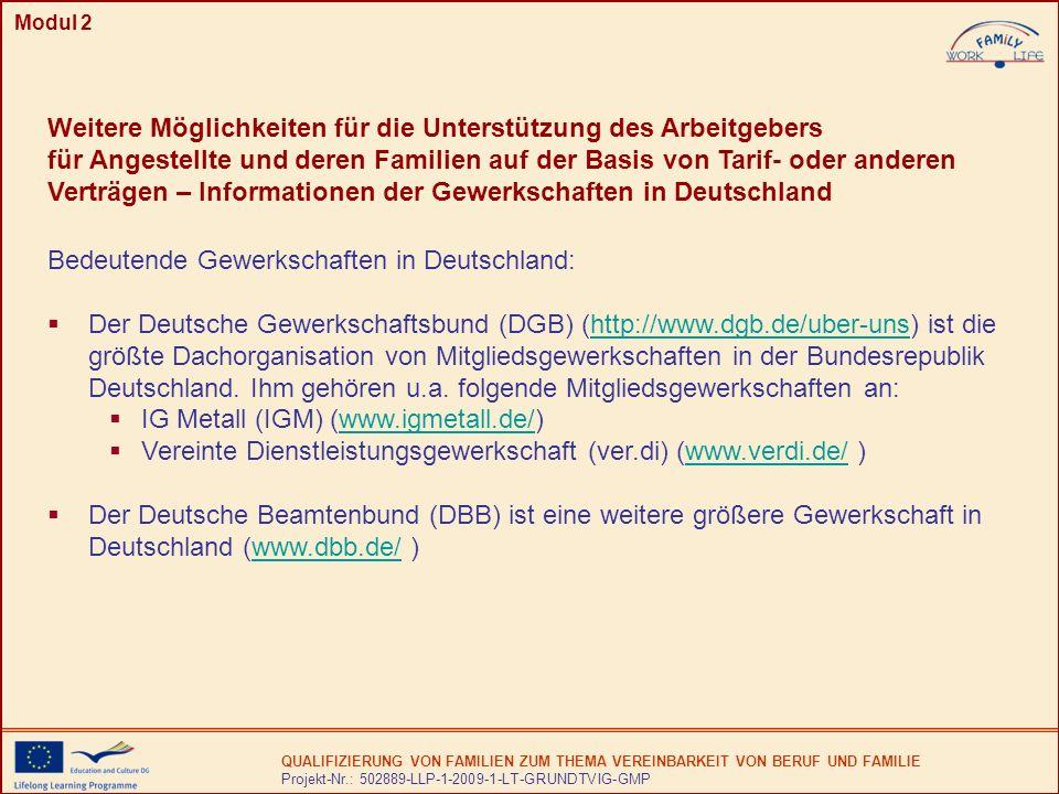 Bedeutende Gewerkschaften in Deutschland: