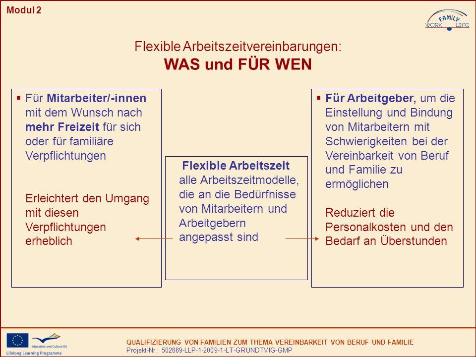 Flexible Arbeitszeitvereinbarungen: WAS und FÜR WEN