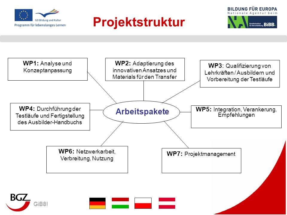 Projektstruktur Arbeitspakete WP1: Analyse und Konzeptanpassung