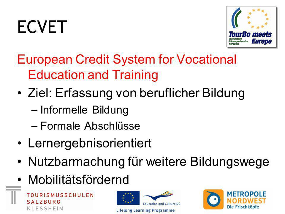 ECVET European Credit System for Vocational Education and Training