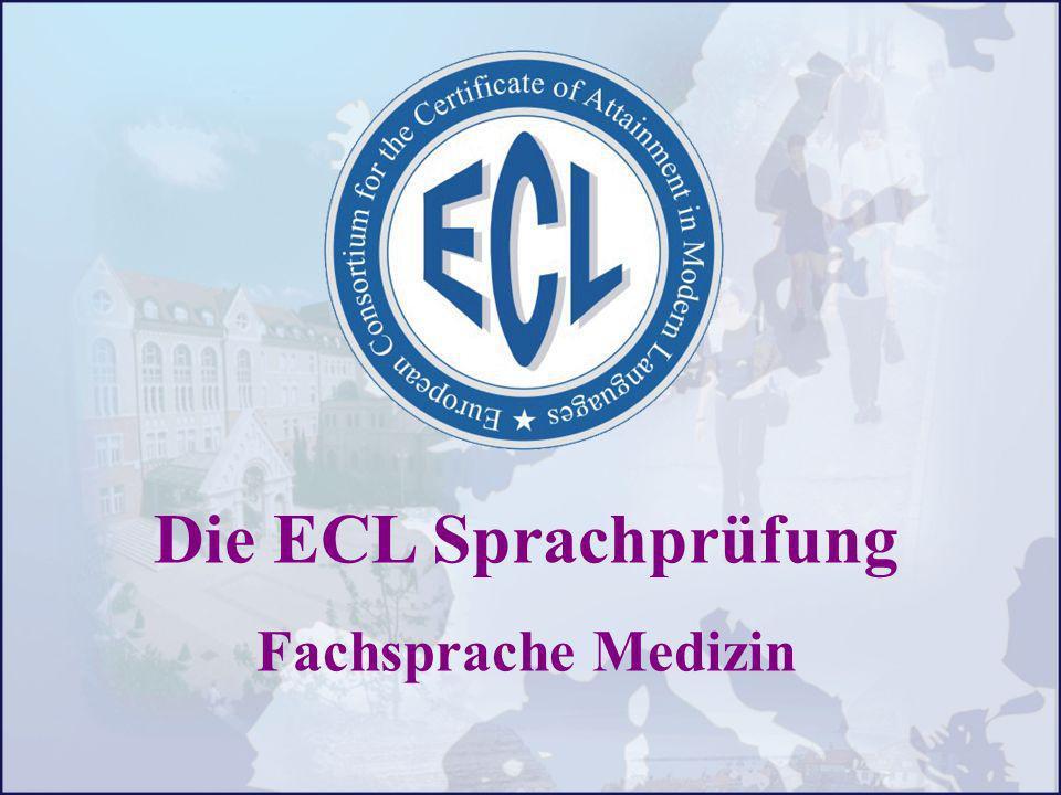 Die ECL Sprachprüfung Fachsprache Medizin