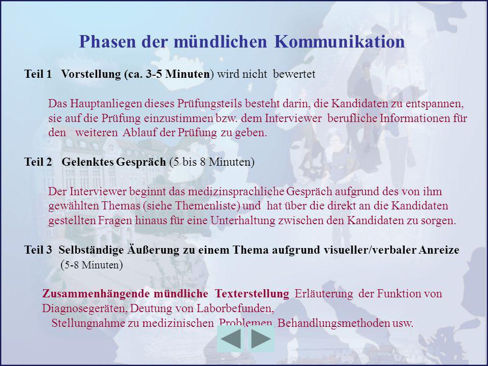 Phasen der mündlichen Kommunikation